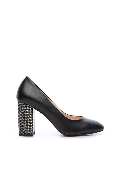 Kemal Tanca Siyah Kadın Vegan Topuklu Ayakkabı 51 1059 BN AYK Y19