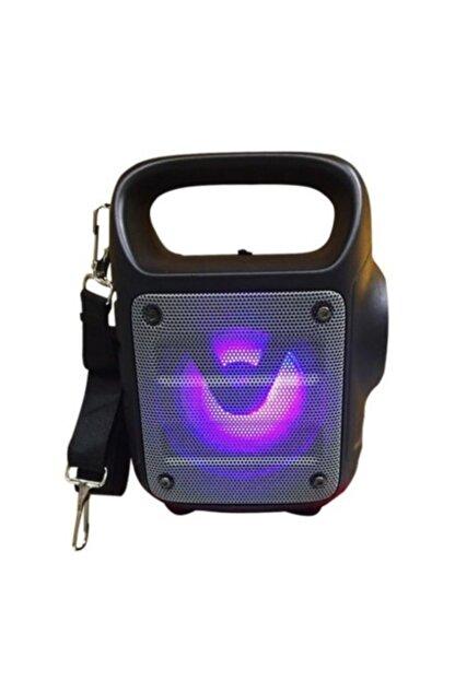 Teknoloji Gelsin Kts1185 Gri Bluetooth Hoparlör El Feneri Kablosuz Speaker Ses Bombası Askılı Mikrofon Girişli