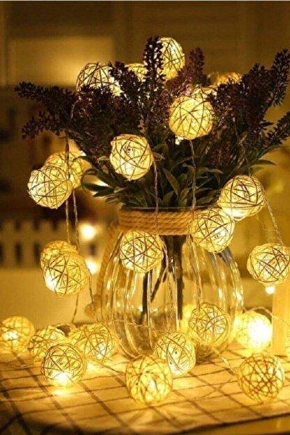 GLR Pamuk Top Led Dize 2mt. 10 Top Gün Işığı (Sıcak Satı) Dekoratif Pilli Led Aydınlatma