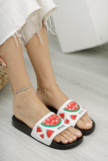 Moda Frato G130.47 Meyveli Kadın Terlik