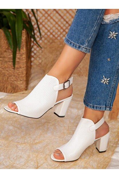 ayakkabıhavuzu Kadın Beyaz Cilt Topuklu Ayakkabı