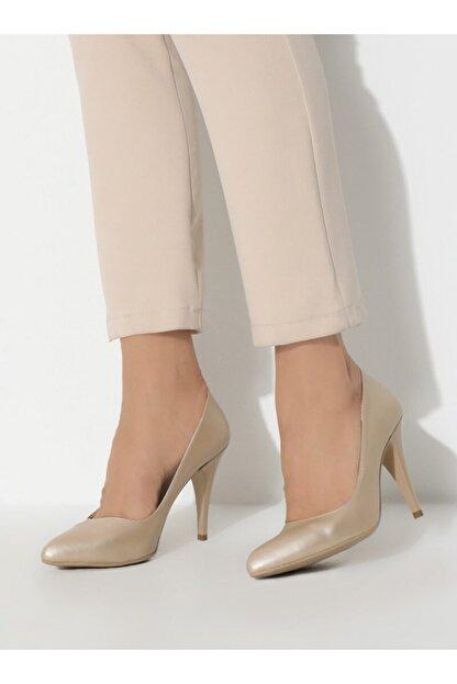 ayakkabıhavuzu Kadın Altın Topuklu Ayakkabı  1232756