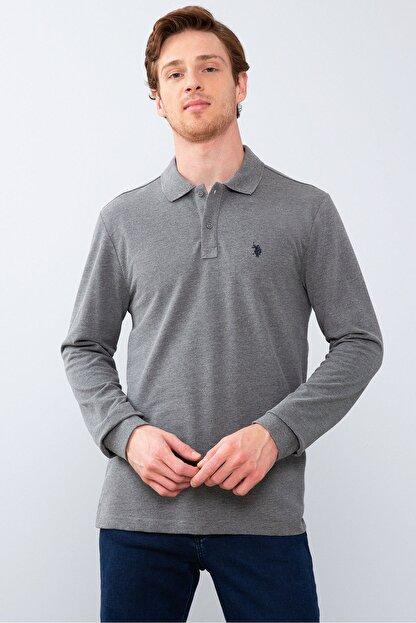 US Polo Assn Grı Erkek Sweatshirt