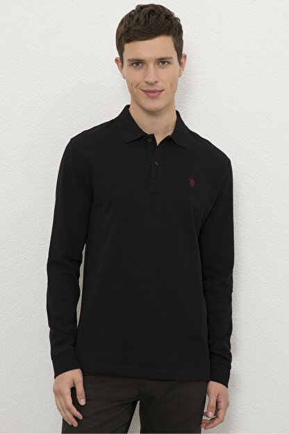 US Polo Assn Siyah Erkek Sweatshirt