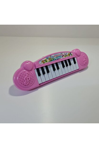 Can Ali Toys Ilk Elektronik Piyanom Pembe