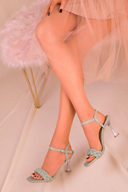 Soho Exclusive Yeşil Kadın Klasik Topuklu Ayakkabı 16076