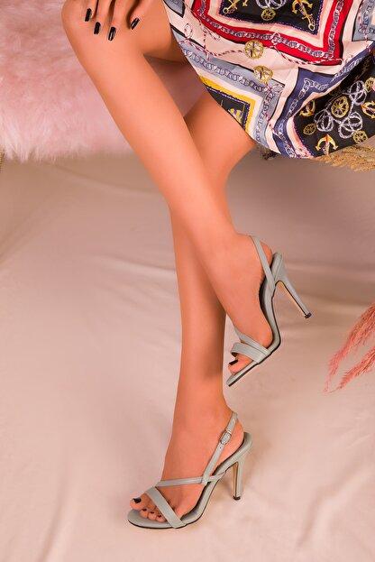 Soho Exclusive Yeşil Kadın Klasik Topuklu Ayakkabı 16210
