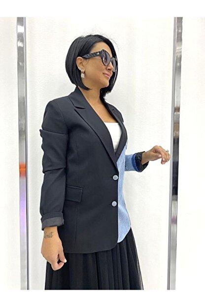 bennurgüldenboutique Kadın Geometrik Şık Ceket
