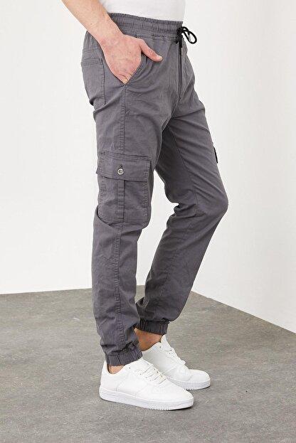 Enuygunenmoda Erkek Slim Fit Jogger Pantolon Antrasit