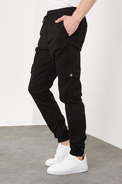 Enuygunenmoda Erkek Slim Fit Jogger Pantolon Siyah