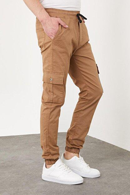 Enuygunenmoda Erkek Slim Fit Jogger Pantolon Sütlü Kahve