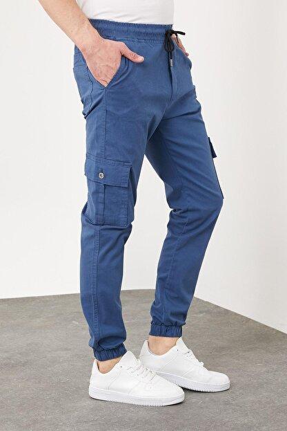 Enuygunenmoda Erkek Slim Fit Jogger Pantolon Mavi