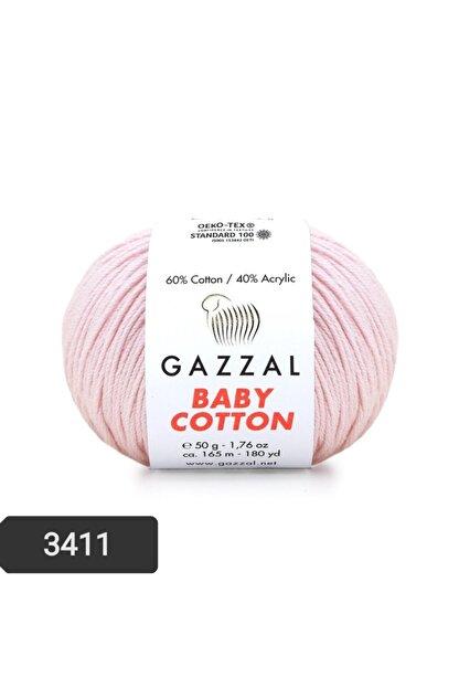 Gazzal Baby Cotton Amigurumi Ipi 50 Gr El Örgü Ipi Punch Ipi 3411 Pamuk+akrilik Örgü Ipi