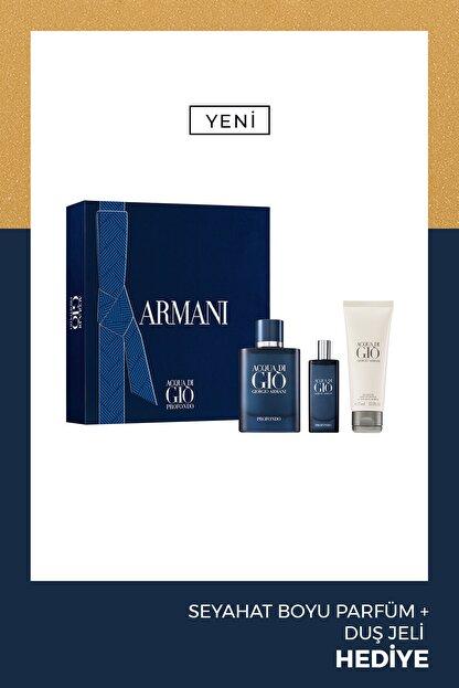 Giorgio Armani Acqua Di Gio Profondo Edp 75 ml Erkek Parfüm Seti 3614273375856
