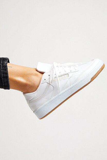 Tonny Black Unısex Spor Ayakkabı Beyaz Cilt Tb107