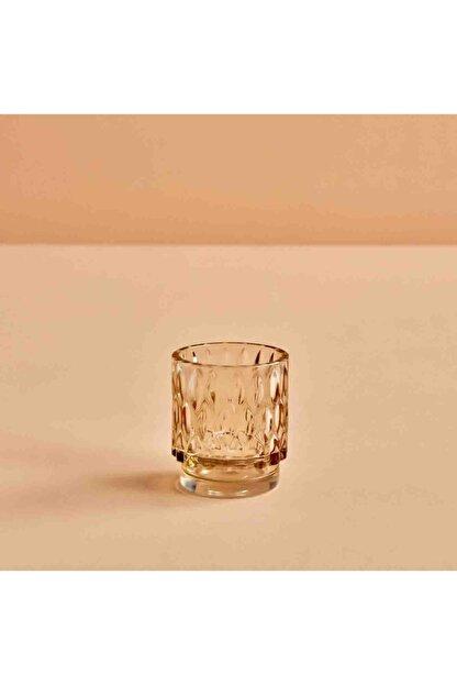 Bella Maison Drop Amber Tealight Mumluk (7x8 Cm)