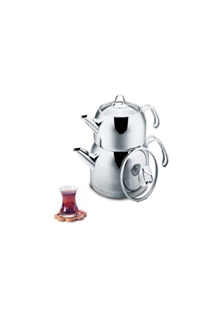 KORKMAZ A105 Provita Maxi Çelik Çaydanlık Takımı