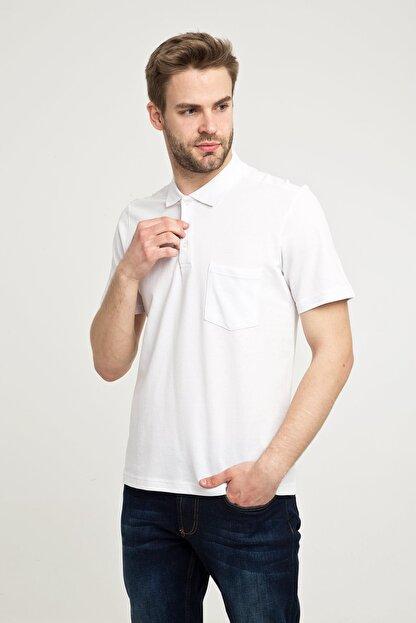 Kiğılı Erkek Beyaz Polo Yaka T-Shirt - Cdc01