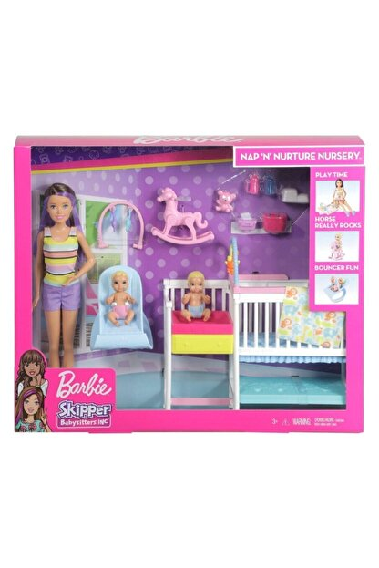 Barbie Gfl38 Bebek Bakıcısı Skipper Uyku Eğitiminde Oyun Seti