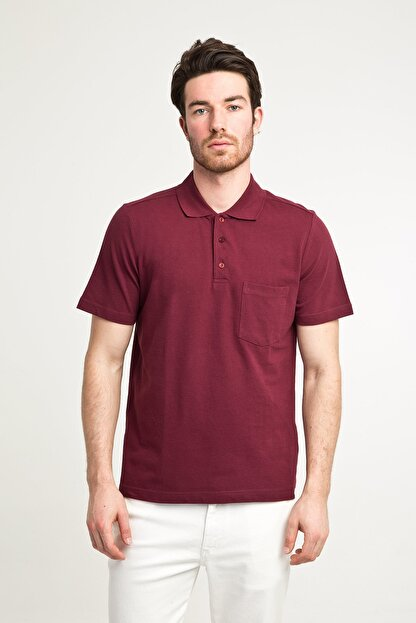 Kiğılı Erkek Bordo Polo Yaka T-Shirt - Cdc01