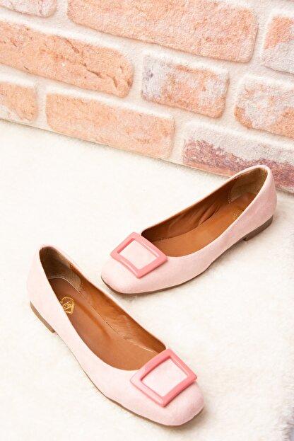 Fox Shoes Pudra Pembe Kadın Babet H726452002