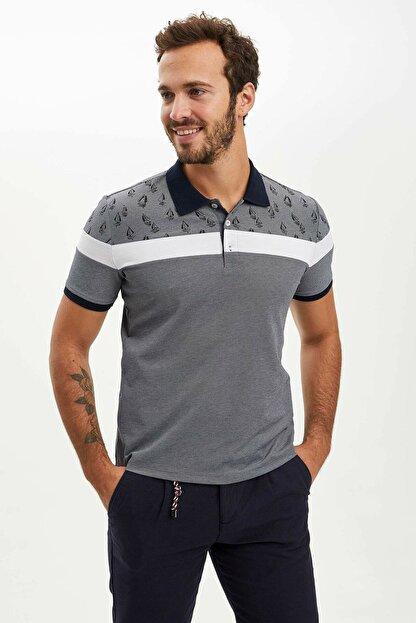 Defacto Erkek Çivit Mavisi Slim Fit Polo T-shirt M8179AZ.20SP.IN120