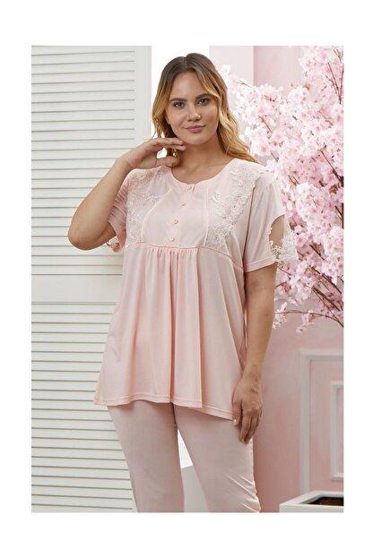 Flz Pijama Kadın Büyük Beden Lohusa Emzirme Pijama Takım
