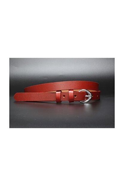 Livize Hakiki Deri Kırmızı Kadın Kemeri 2cm