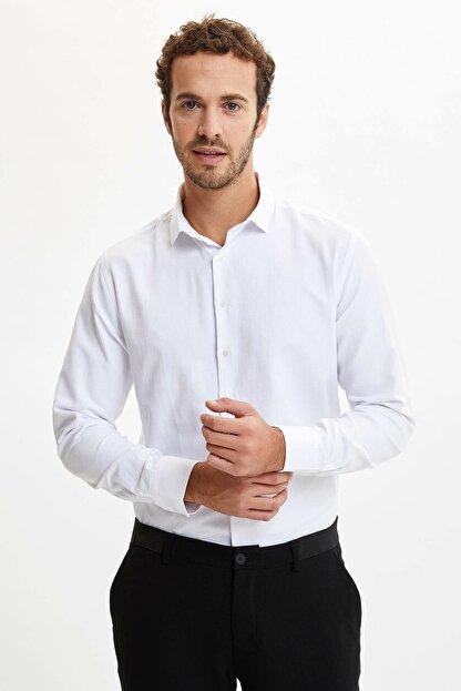 Defacto Slim Fit Klasik Uzun Kollu Gömlek