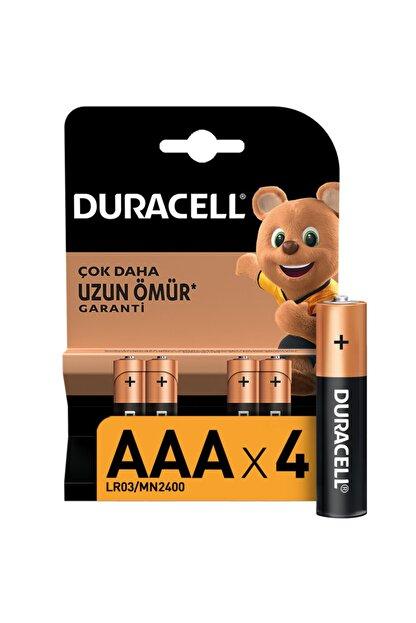 Duracell 4'lü Paket Alkalin Aaa İnce Kalem Pil