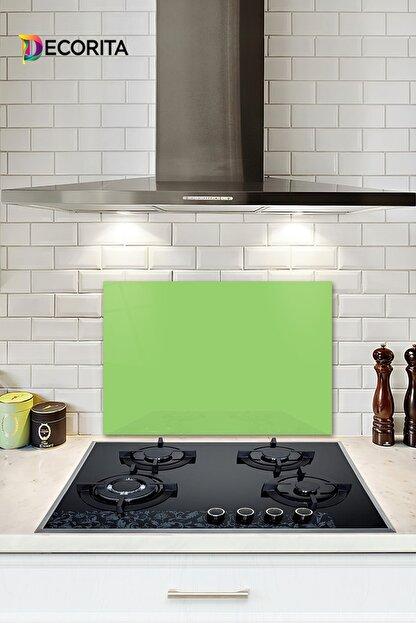 Decorita Düz Renk - Neon Yeşil | Cam Ocak Arkası Koruyucu | 40cm x 60cm