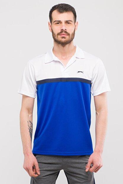 Slazenger Troop Erkek T-shirt Saks Mavi
