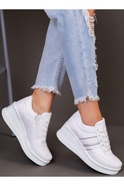 ayakkabıhavuzu Kadın Beyaz Spor Ayakkabı  1298154