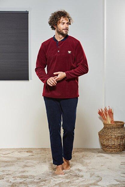 Pjs Pijama Erkek Düğmeli Polar Pijama Takımı 21330