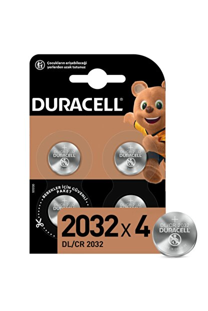 Duracell Özel 2032 Lityum Düğme Pil,  4'lü paket
