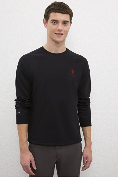 US Polo Assn Sıyah Erkek Sweatshirt