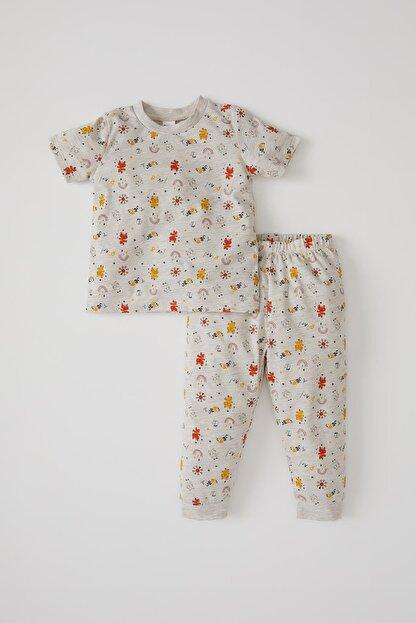 Defacto Erkek Bebek Desenli Kısa Kol Pijama Takımı