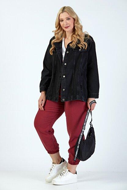 Büyük Moda Kadın Antasit Kot Ceket