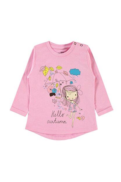 Kujju Kız Bebek Pembe Sweatshirt