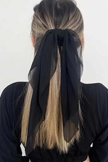 Takıştır Siyah Renk Fularlı Simit Toka