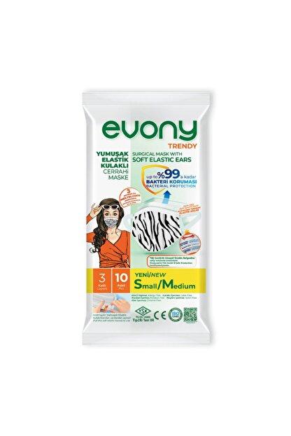 Evony Yumuşak Elastik Kulaklıklı Maske Small /medium 10 Lu 10 X5 50 Adet