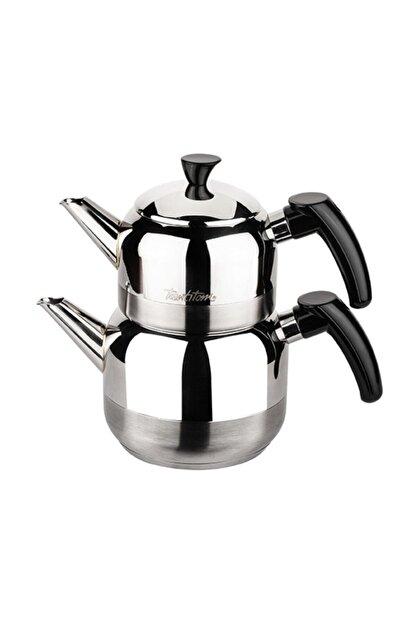 Tantitoni Siyah Athena Mini Boy Paslanmaz Çelik Çaydanlık Takımı 650/1150ml