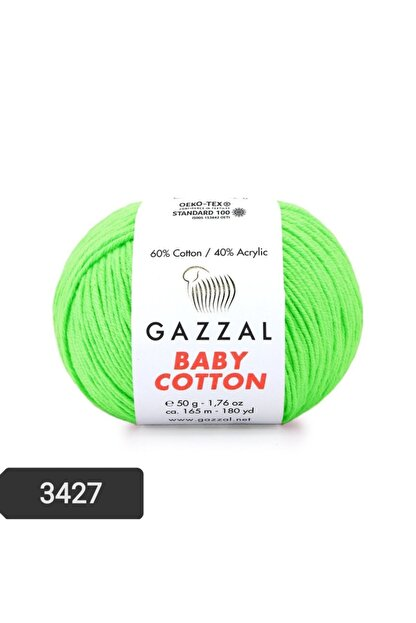 Gazzal Baby Cotton Amigurumi Ipi 50 Gr Punch Ipi El Örgü Ipi 3427 Pamul+akrilik Örgü Ipi
