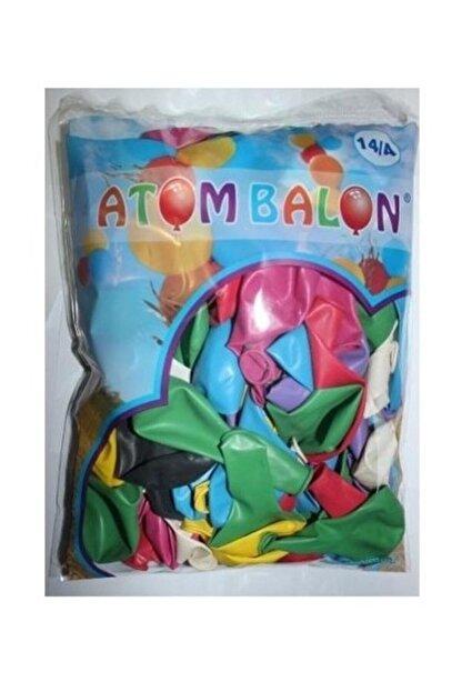 Atom Balon 14/a Desensiz Renkli Balon 100'lü