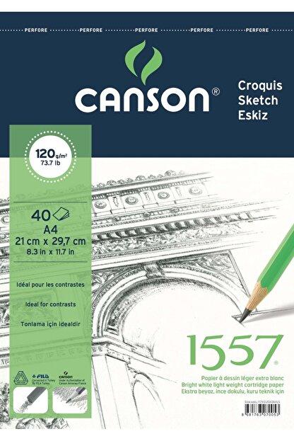 Canson 1557 Resim Ve Çizim Blok 120gr A4 40yp Üstten Spiralli
