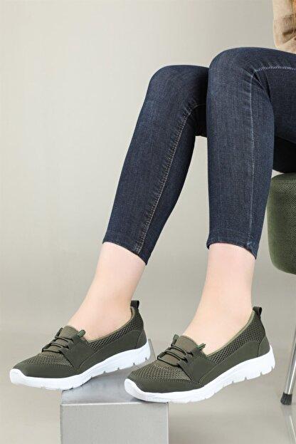 CARLA BELLA Günlük Rahat Yeşil Kadın Ayakkabı S-041