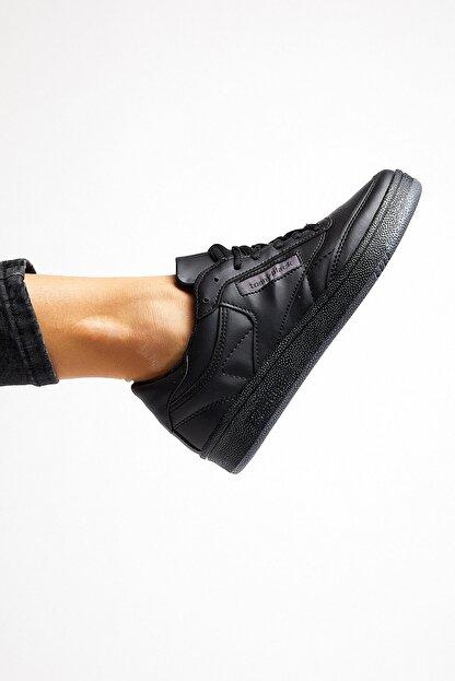Tonny Black Siyah Cilt Unisex Sneaker TB107-0