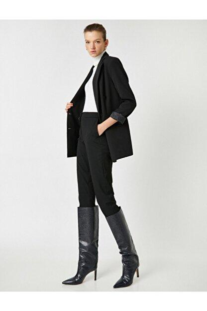 Koton Kadın Siyah Cepli Pantolon