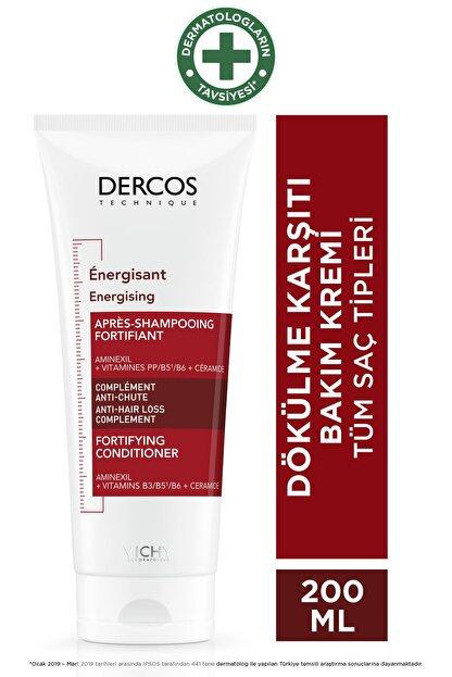 Vichy Dercos Energising Fortifying Conditioner 200 ml