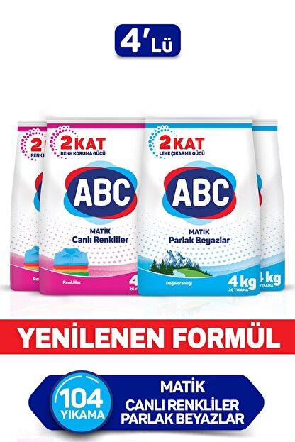 ABC Matik Canlı Renkler + Dağ Ferahlığı 4 Kg 4'lü Set